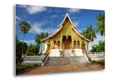 Temple in Luang Prabang Museum, Laos-lkunl-Metal Print
