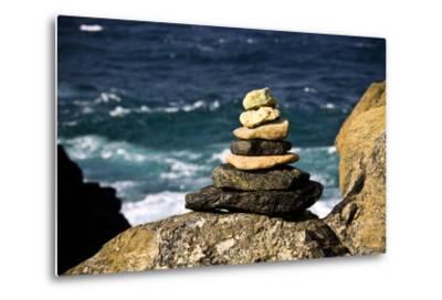 Stone Pile-Redwall-Metal Print