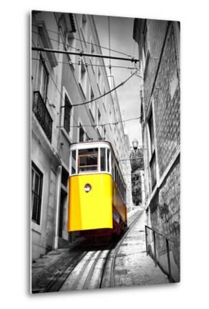 Funicular (Elevador Do Lavra) in Lisbon, Portugal-Zoom-zoom-Metal Print
