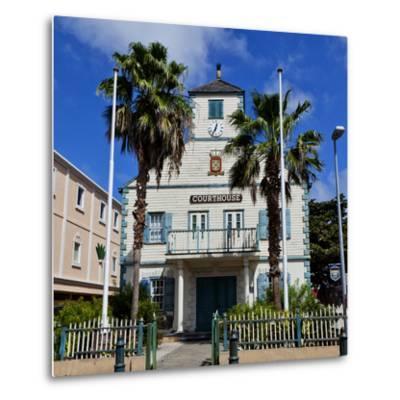 Town of Philipsburg in St. Maarten, West Indies.-Joe Restuccia III-Metal Print