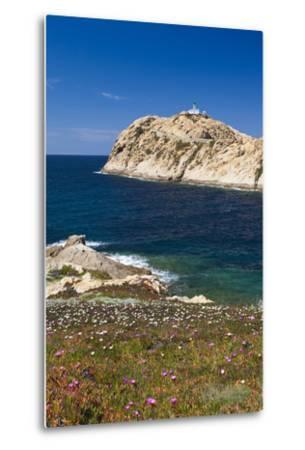 Lighthouse, Ile De La Pietra Islant, Ile Rousse, Corsica, France-Walter Bibikow-Metal Print