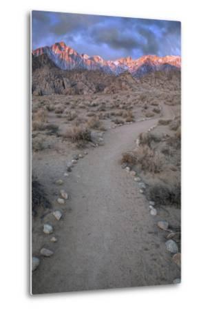 Sunrise on Lone Pine Peak and Mt Whitney, California, USA-Jaynes Gallery-Metal Print