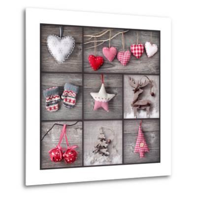 Christmas Collage-egal-Metal Print