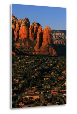 Morning Sunlight on the Red Rocks Rock Formation-Babak Tafreshi-Metal Print