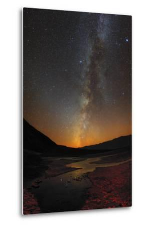 The Milky Way and Zodiacal Light over Badwater Basin in Death Valley-Babak Tafreshi-Metal Print