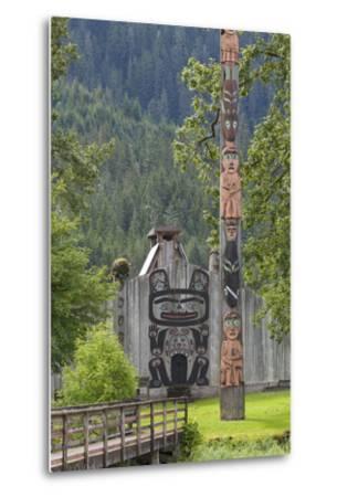 View of Chief Shakes Tribal House, Wrangell, Alaska, USA-Jaynes Gallery-Metal Print