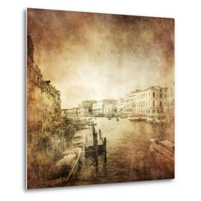 Vintage Photo of Grand Canal, Venice, Italy--Metal Print