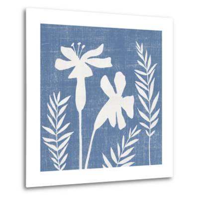 Small Blue Linen II-Megan Meagher-Metal Print