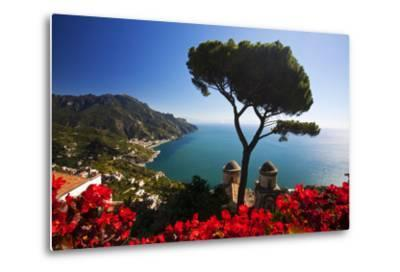 View of the Amalfi Coast from Villa Rufolo in Ravello, Italy-Terry Eggers-Metal Print