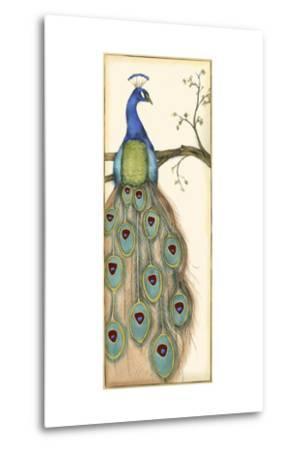 Small Rebecca's Peacock I-Jennifer Goldberger-Metal Print