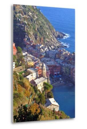 Europe, Italy, Vernazza. Cinque Terre Town of Vernazza, Italy-Kymri Wilt-Metal Print