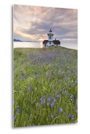 Sunset on Patos Island Lighthouse, San Juan Islands, Washington, USA-Jaynes Gallery-Metal Print