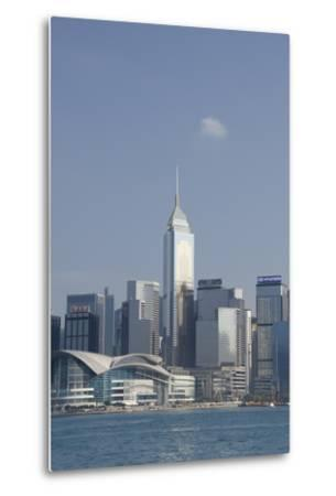 City Skyline View from Victoria Harbor, Hong Kong, China-Cindy Miller Hopkins-Metal Print
