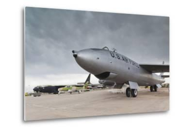 Boeing B-47, Kansas Aviation Museum, Wichita, Kansas, USA-Walter Bibikow-Metal Print