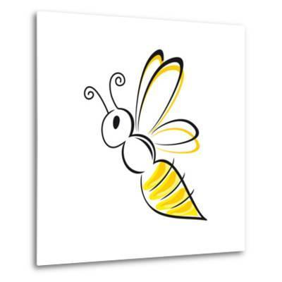 Bee Stylized-talitha-Metal Print