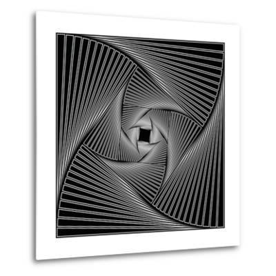 Black Spiral-Nemosdad-Metal Print