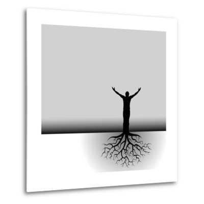 Tree Man Roots-mike301-Metal Print