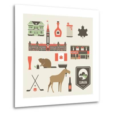 Canada Icons-vector pro-Metal Print