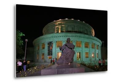 A Statue of Armenian Composer Aram Khachaturian at the Opera House Bearing His Name-Babak Tafreshi-Metal Print