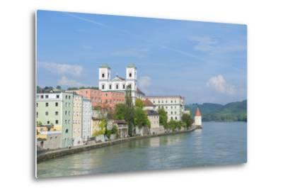 Danube River, Passau, Bavaria, Germany-Jim Engelbrecht-Metal Print