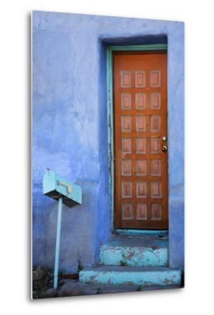 Colorful Doorway, Barrio Historico District,Tucson, Arizona, USA-Jamie & Judy Wild-Metal Print