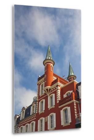 Building Detail, Somme Bay, Le Crotoy, Picardy, France-Walter Bibikow-Metal Print