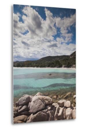 Plage De Palombaggia Beach, Porto Vecchio, Corsica, France-Walter Bibikow-Metal Print