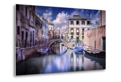 Venetian Canal, Venice, Italy--Metal Print