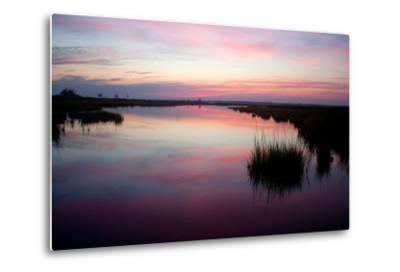 Chincoteague Bay Sunset, Taken from Assateague Island, Maryland-Vickie Lewis-Metal Print