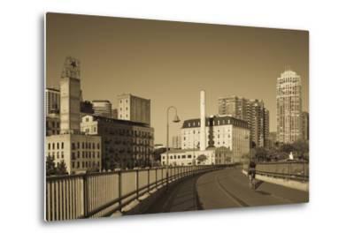 Stone Arch Bridge, Stpaul, Minneapolis, Minnesota, USA-Walter Bibikow-Metal Print