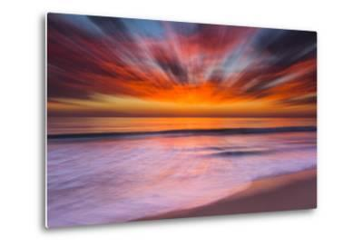 Sunset Abstract from Tamarack Beach in Carlsbad, Ca-Andrew Shoemaker-Metal Print