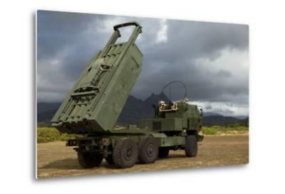 A M142 High Mobility Artillery Rocket System--Metal Print
