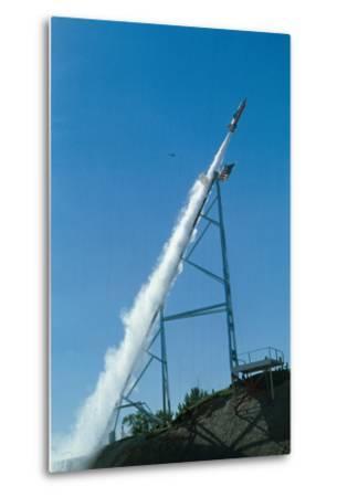 Evel Knievel's Rocket Launching--Metal Print
