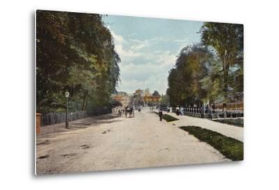 Trumpington Road and Trumpington Street--Metal Print
