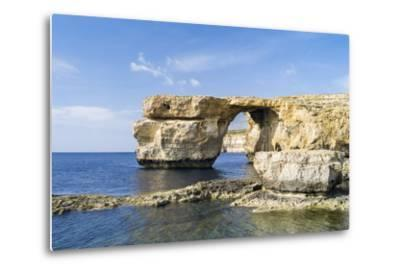 Azure Window, a Natural Arch at the Coast of Gozo, Malta-Martin Zwick-Metal Print