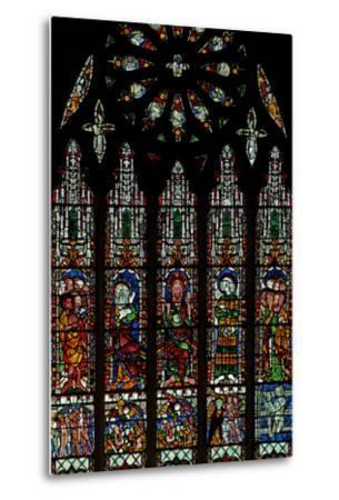 The E Window Depicting the Last Judgement: Christ, Virgin Mary, St John Baptist--Metal Print