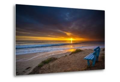 Sunset over the Pacific Ocean in Carlsbad, Ca-Andrew Shoemaker-Metal Print