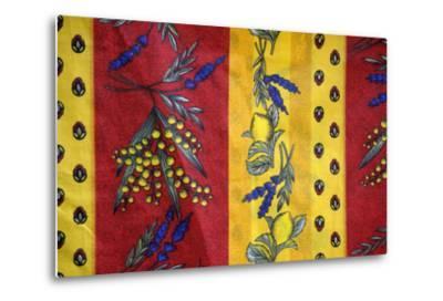 France, Aix-En-Provence. Textiles, Cours Mirabeau Market-Kevin Oke-Metal Print