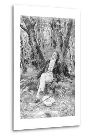 Beethoven Lounging in the Forest--Metal Print