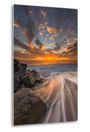 Sunset from Tamarach Beach in Carlsbad, Ca-Andrew Shoemaker-Metal Print