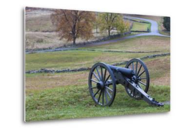 USA, Pennsylvania, Gettysburg, Battle of Gettysburg, Civil War Cannon-Walter Bibikow-Metal Print