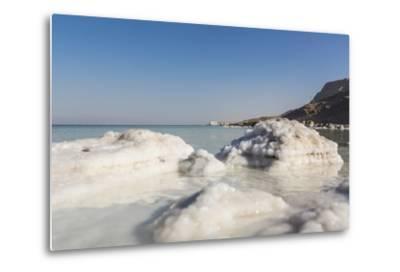 Dead Sea - Salt Deposits-Massimo Borchi-Metal Print