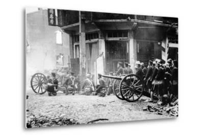 Japanese Artillery in China, C.1930S--Metal Print