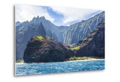 Majestic Na Pali Coastline of Kauai-Andrew Shoemaker-Metal Print