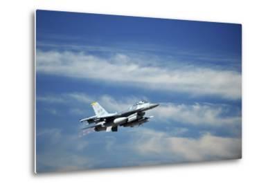A U.S. Air Force F-16 Fighting Falcon Aircraft--Metal Print