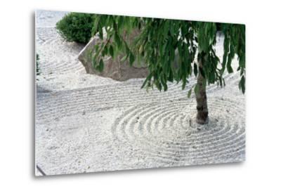 Zen Garden Showing Sand Circles--Metal Print