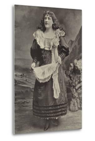 "Miss Georgina Preston, as Polly Perkins in ""Robinson Crusoe,"" Grand Theatre, Islington--Metal Print"
