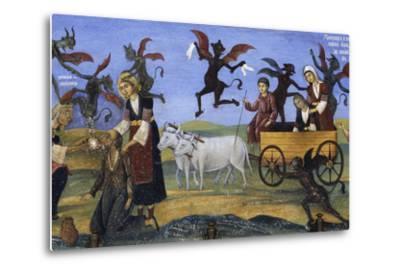 Fresco of the Porch, Rila Monastery--Metal Print