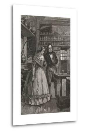 Michael and Mrs. Faraday Observing Experiment--Metal Print