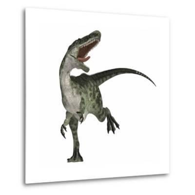 Monolophosaurus Dinosaur--Metal Print